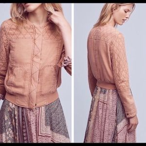 Hei Hei Anthropologie Itinerary Bomber Jacket L